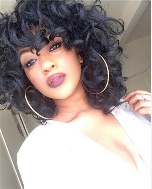African American Black Wigs New Stylish Lolita Curly Short Full Wig ...