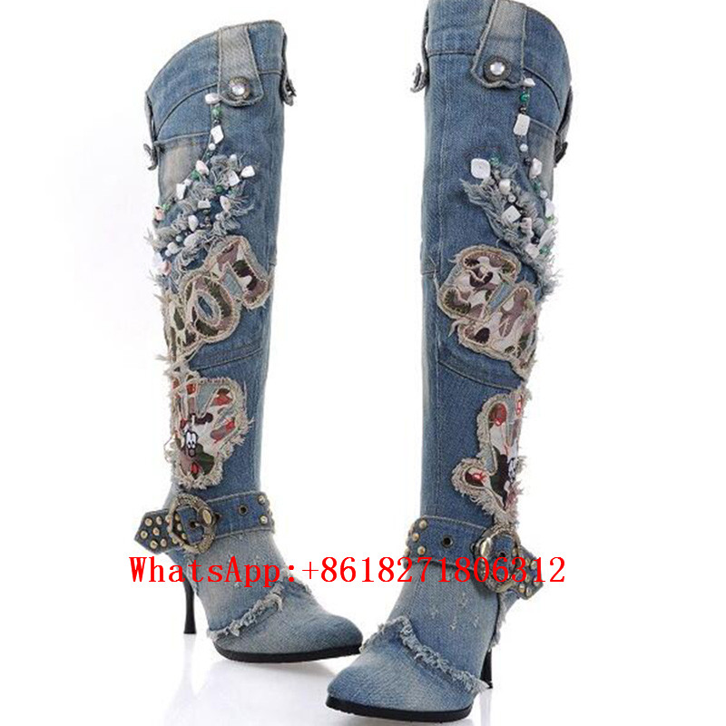 Popular Blue Cowgirl Boots-Buy Cheap Blue Cowgirl Boots lots from ...