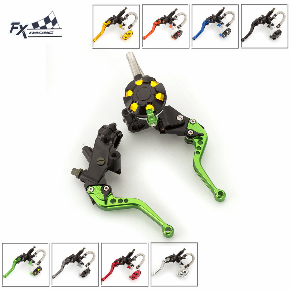 7/8 22mm Motorcycle Brake Clutch Lever Master Cylinder Reservoir Hydraulic Brake Lever For Kawasaki Z125 Z250 125CC - 400CC motorcycle hydraulic brake clutch master cylinder reservoir levers 125cc 600cc for kawasaki zrx1100 zrx1200 zg1000 1992 2006