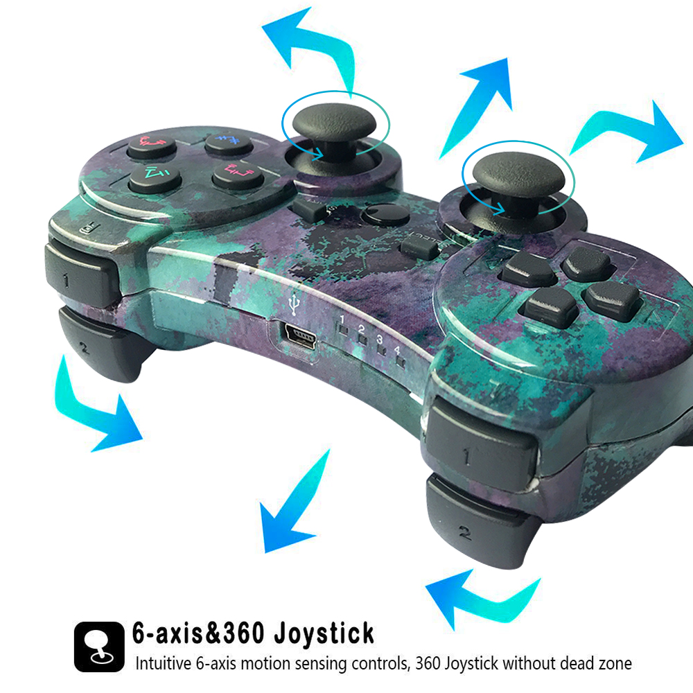 K ISHAKO Controller For PS3 PC Wireless Bluetooth Gamepad For SONY PS3 Playstation 3 Dualshock Game Joystic