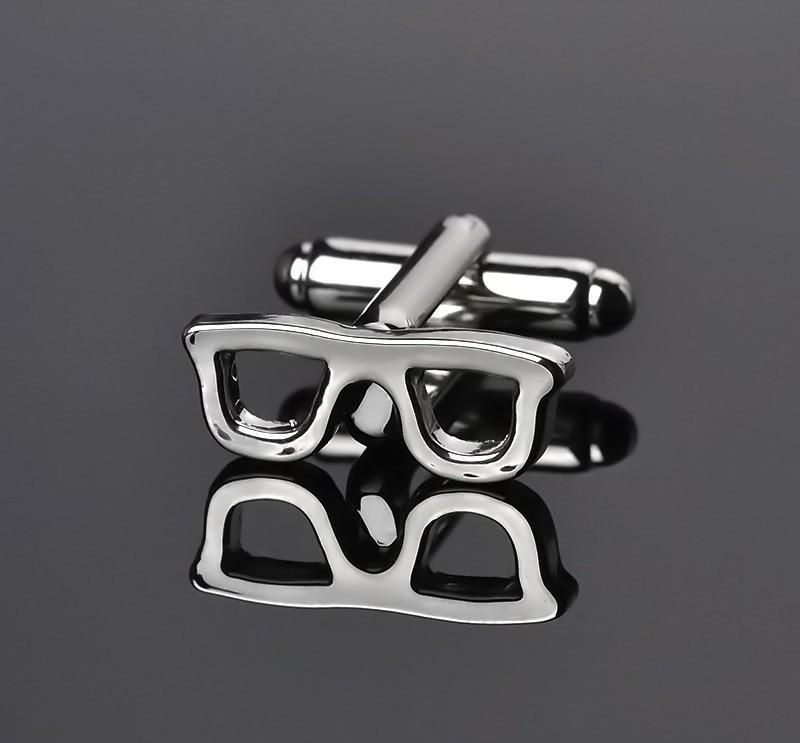 New Novelty Design Glasses Frames Mens Shirts Cufflinks Fashion ...