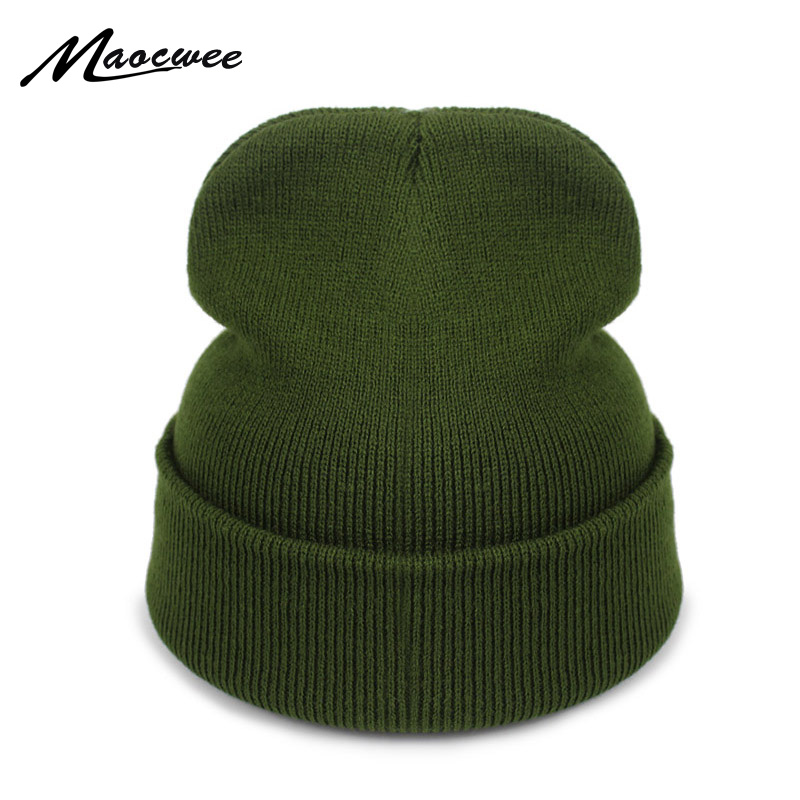 2018 New Fashion Winter Hat Women Man Cap Skullies Beanies Unisex Warm Hats Knitted Hats For Men Beanies Simple Warm Soft Cap