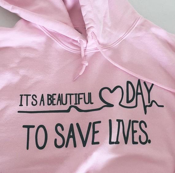 HTB1V.aiRVXXXXaNaXXXq6xXFXXXE - Grey's Anatomy It's A Beautiful Day To Save Lives Hoodie