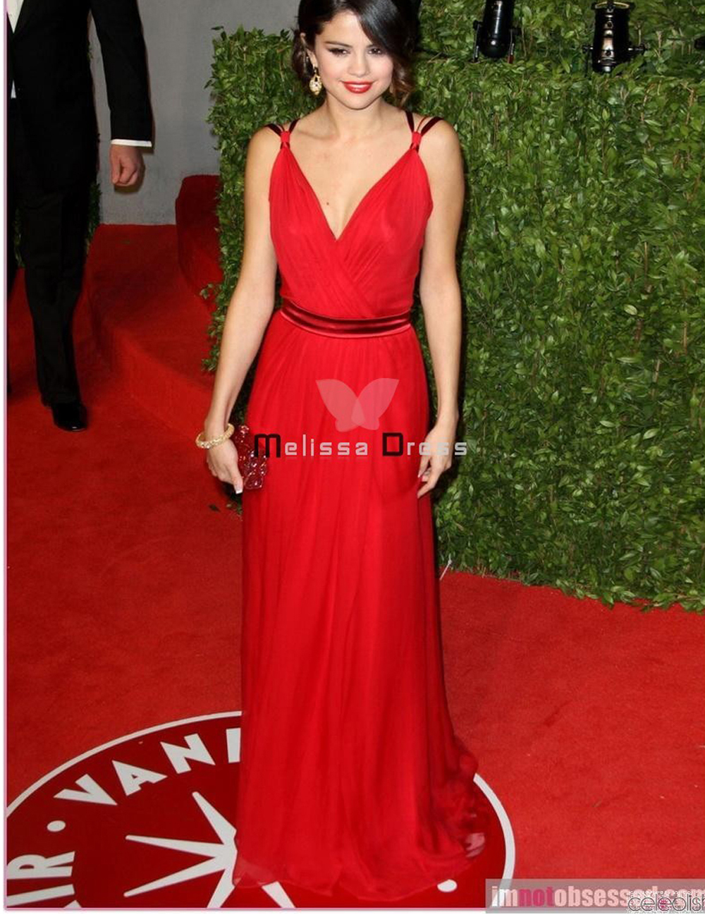 Selena Gomez Red Dress 2011 Oscars Awards Celebrity