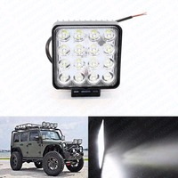 4.5inch 16x3W 48W Auto LED Spot Work Light Bar Offroad Worklights Car Lighting for Truck Motorcycle Vehicle Boat SUV Driving