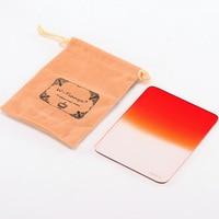 TINAYA 100 130mm Graduated Gradual Orange Resin Square Filter Filter Bag For Cokin Z Pro Lee