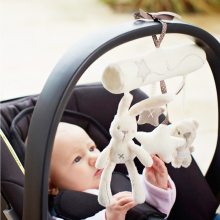 Baby Music Hanging Bed Safety Seat Plush Toy Hand Bell Multifunctional Rabbit Plush Toy Stroller Mobile