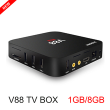 Hot V88 Smart TV Box Android 6.0 Set Top Box RK 3229 Quad Core 4K H.265 WIFI 1GB RAM 8GB ROM Android Smart Media Player Mini PC