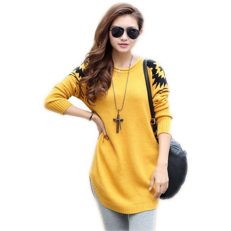 2015 spring Women's loose plus size sweater ladies casual pullover ...