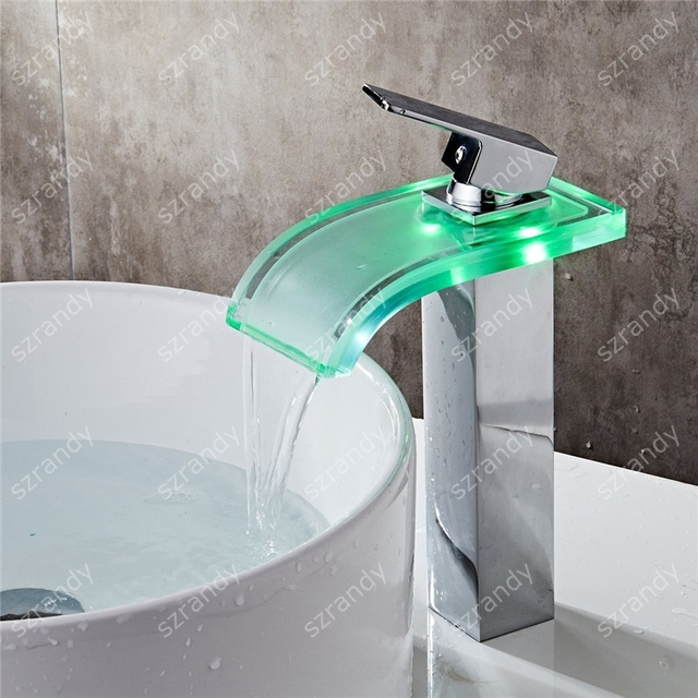 No Need Battery Water Powered Color Changing Brass Single Handle ...