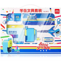 Learning student stationery gift box set pupils school supplies prizes children gift pencil pen box set Deli 9610
