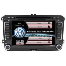 Newest 2DIN For volkswagen multimedia for vw polo car dvd player navi vw passat v jetta navi vw golf steering wheel RDS USB FM