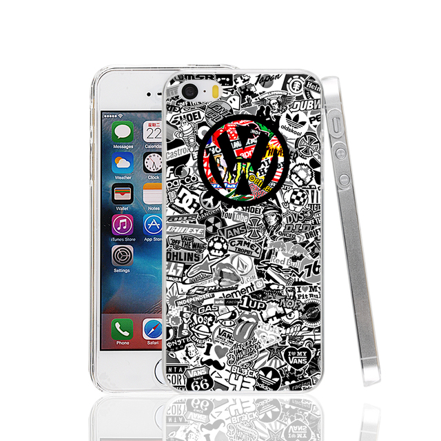VW Car Logo Cover Case For iPhone