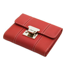 Luxury Brand Designer Women Genuine Leather Small Wallet Female Short Coin Purse