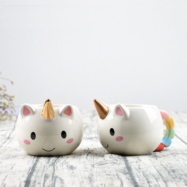 300ml 3D Unicorn Mug Creative Ceramic Coffee tea Cup Cute Cartoon Unicorn Mugs Novelty gifts Porcelain milk Cup for office 1
