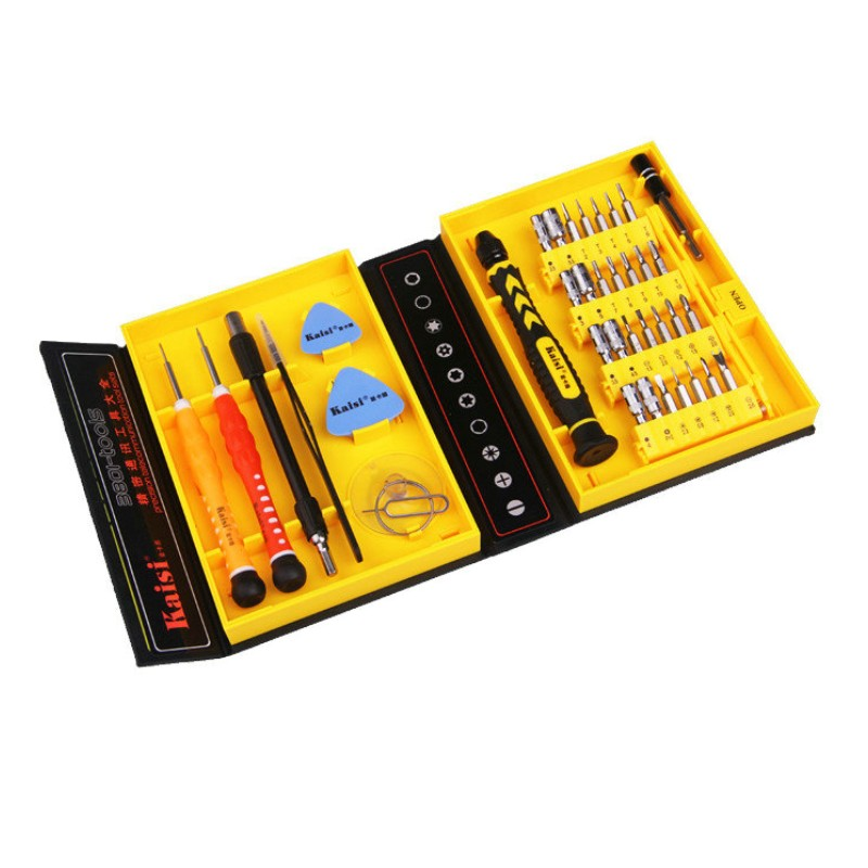 Kaisi 38 in 1 Precision Screwdrivers Kit Opening Repair Phone Tools Set for iPhone 4 / 4s / 5 iPad Samsung hot kaisi precision 51 in 1 screwdriver set of chrome vanadium steel disassemble household tools for iphone for ipad for mac