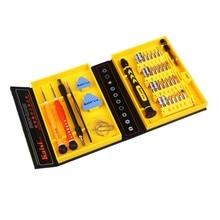 Kaisi 38 1 tornillos de precisión Kit de reparación de apertura Phone Tools Set para el iPhone 4 / 4S / 5 iPad Samsung