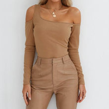 DROPSHIP 2019 Nieuwe Collectie Fashion Vrouwen O-hals Hoge Hals Effen Panel Lange Mouwen Chic Crop Top Blouse Hoodies Freeship 50 *(China)