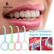 Съемные скобы ясный инструмент для удаления Выравнивателя Пластик хороший ортодонтический выравниватель удалить Невидимый