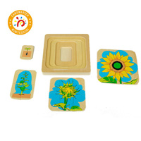 Jigsaw Puzzles Montessori Biology Wooden Puzzle Toys 3 6 Years Kids Educational Brain Teaser Baby Tangram Puzzle Toy Wood BO060