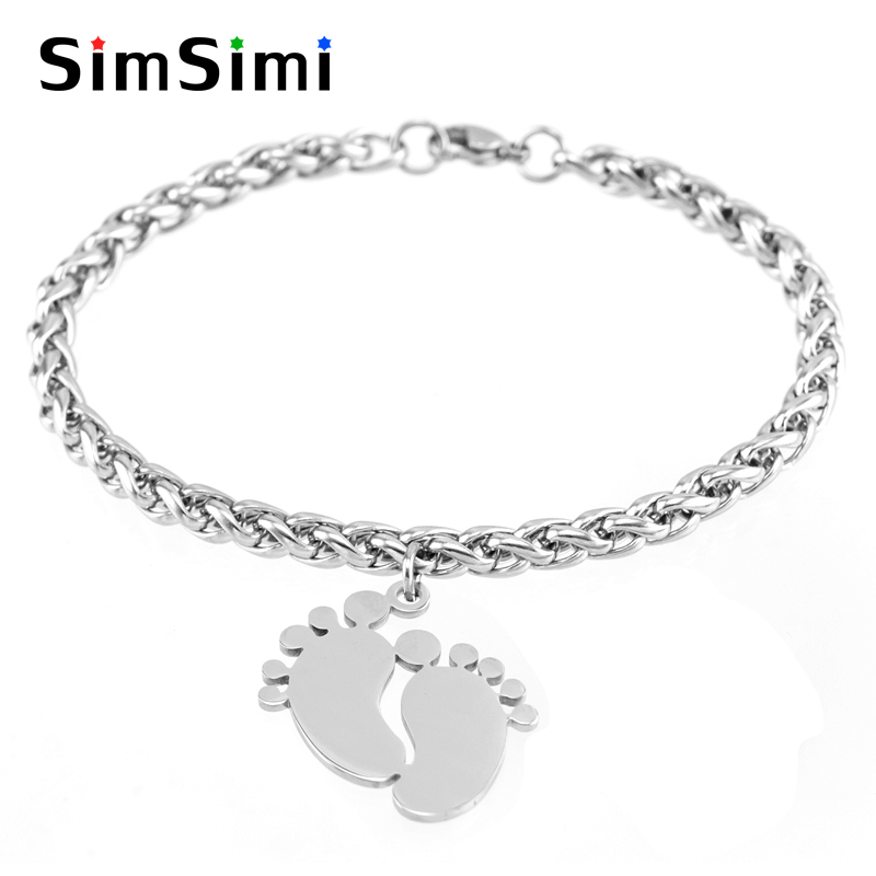 Jewellery & Watches Lovely Simsimi Baby Foot & Birth Stones Charm Choker For Mum Women Jewelry Stainless Steel Origin Fashion Necklaces Gift Jewelry