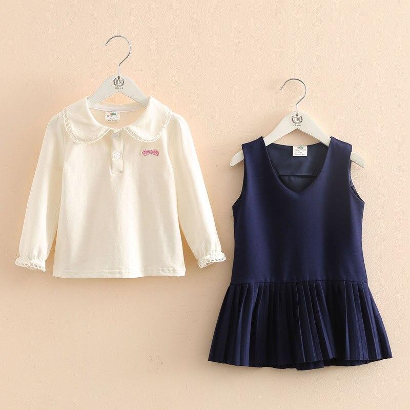 2017 Summer Kids Girls Sets Cotton Princess Skirt+T-Shirt Clothing Set Pullover Children Girl Clothing Suit Coustme For Toddler