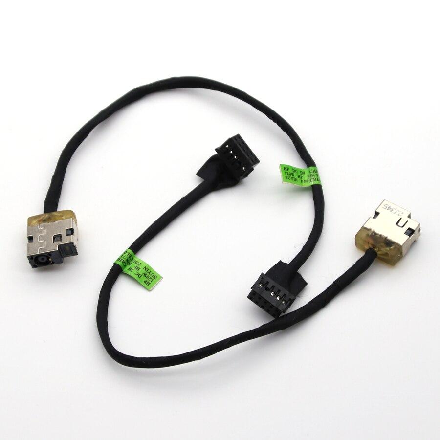 1 шт. Новый DC разъем с кабелем для HP 15-J 120W 10pin 713705-YD4 713705 DC разъем питания с гибким кабелем