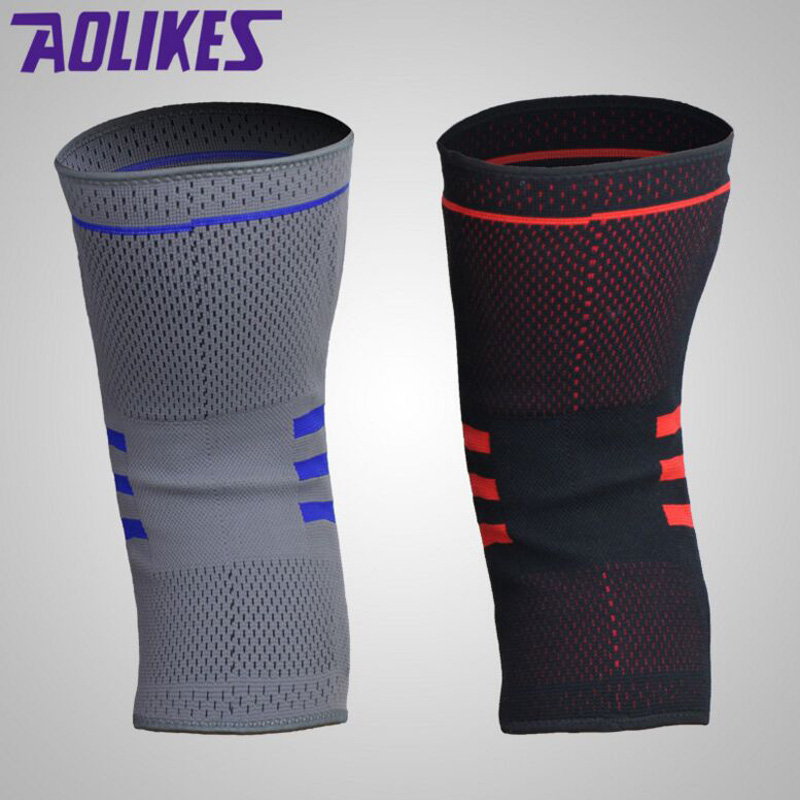c8f5141f12 Nylon Silicon Weightlifting Knee Sleeve Knee Brace Running Basketball  Volleyball Knee Pad Protector Injury Prevention From ACL-in Elbow & Knee  Pads from ...