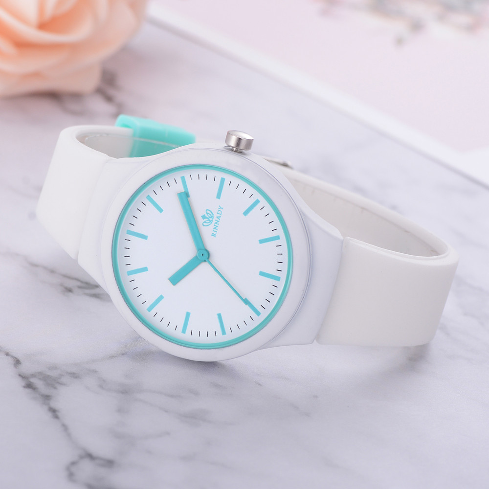 Luxury Women Watches Ladies Solid Pattern Fashion Elegant Silicon Strap Fashion Women Wristwatch 2019 New Gift Bracelet Clock