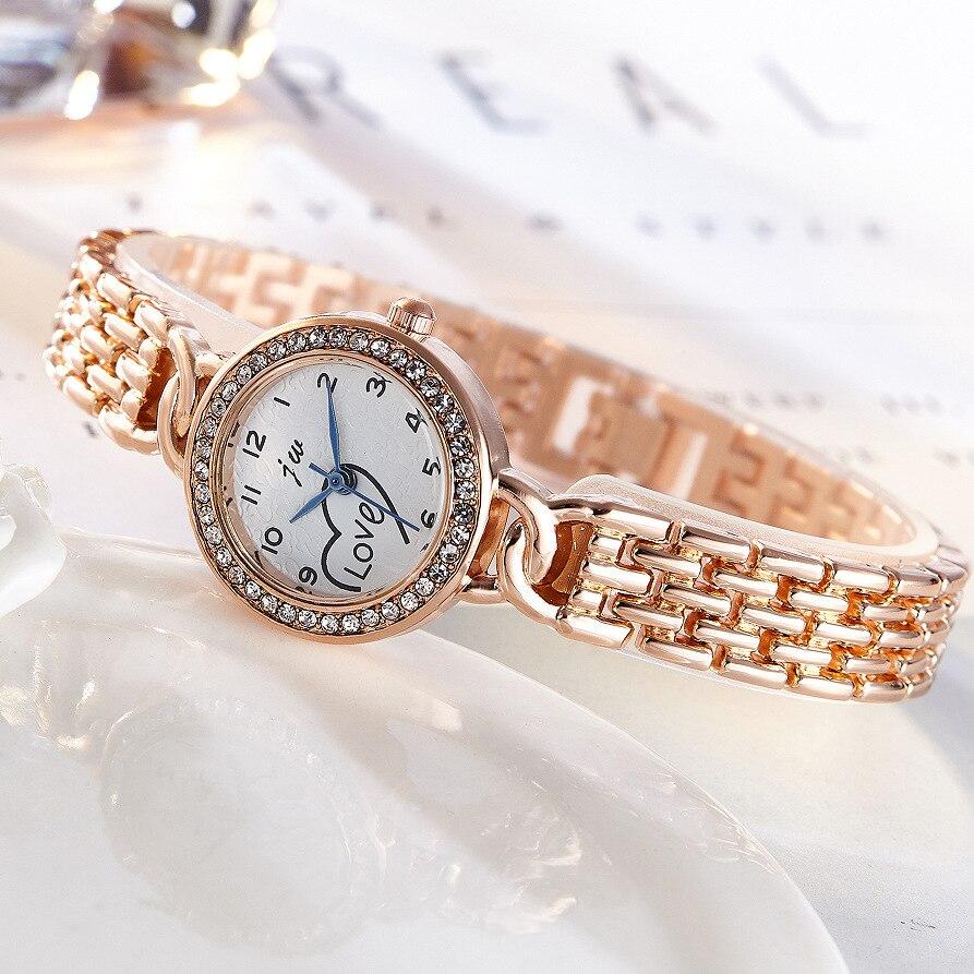 JW Brand Fashion Watches Bracelet Diamond Alloy Wristwatches Women Dress Watches Luxury Gift Women Gold Silver Quartz Watch in Women 39 s Watches from Watches