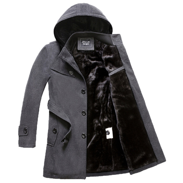 2016 Jaqueta de Inverno Longos Homens Trincheira Pato Para Baixo Casaco Quente Hoodied clássico Mens Roupas Longas Casacos & Coats mens trench coat sexy