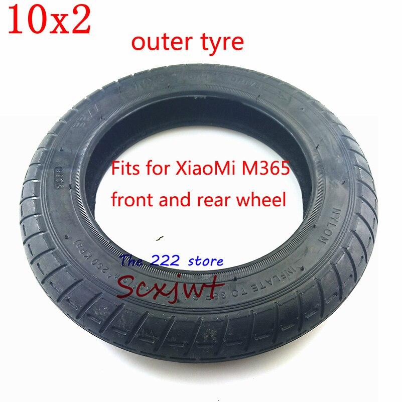 Image 3 - Модернизированный 10 дюймовый электрический скутер Xiaomi Mijia M365, шины для передних моторных колес и надувные задние шины, колеса 10x2, внешняя внутренняя трубка-in Покрышки from Автомобили и мотоциклы