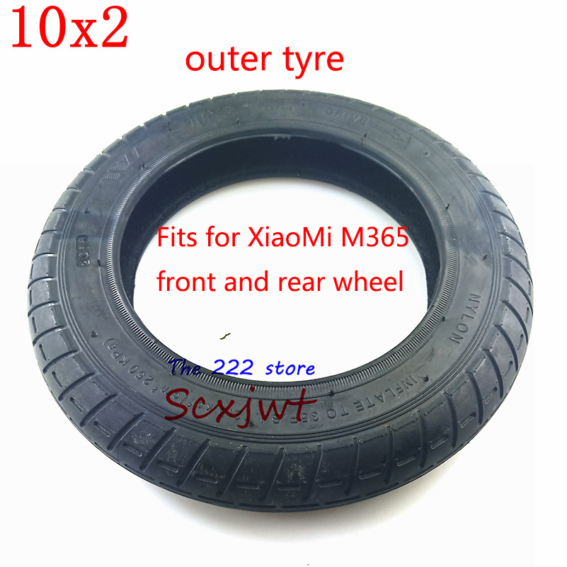 Image 3 - Upgraded 10 Inches Electric Scooter Xiaomi Mijia M365 front Motor wheel tyres & Inflation rear tyres Wheel 10x2 Outer Inner Tube-in Tyres from Automobiles & Motorcycles
