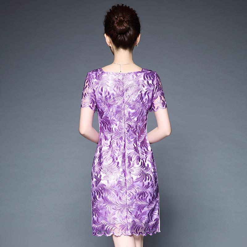 Couture Mince Printemps Partie S Banquet Violet Soirée Avancée 2018 Taille Nouveau Robes La Maille Brodé Moulante Femme 5xl Robe De Plus 5xl qX6qHTwP