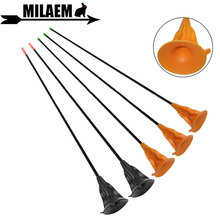 6/12pcs Archery Sucker Arrow Children Practice Fiberglass OD 6mm Outdoor Game Shooting Bow And Accessories