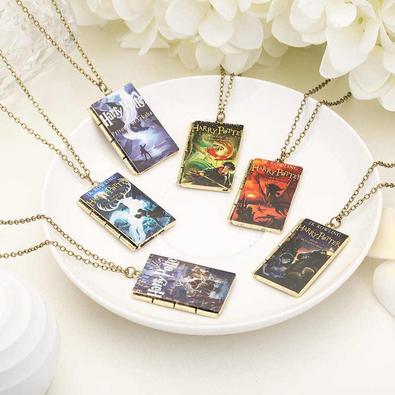 Toys & Hobbies Multi Styles Funny Movie Harri Potter Magic Book Series Necklace Pendant Hogwarts School Square Gift Jewelry For Children Kids