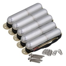 Yibuy Chrome Vintage Lipstick Tube Pickup for Single Coil Electric Guitar