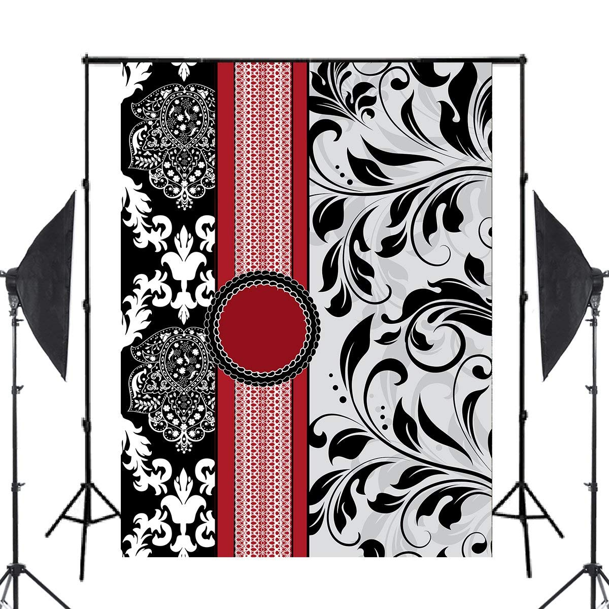 Image 2 - Classic European Pattern Photography Backdrop Flower Shape photo studio backgound 5x7ft Classical mural wall backdrops-in Photo Studio Accessories from Consumer Electronics