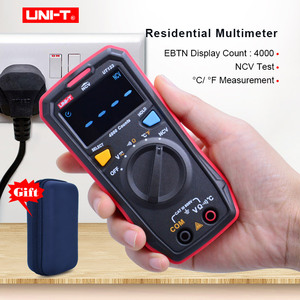 UNI-T UT123 Mini Digital Multimeter;AC DC Voltage meter;Resistance(Ohm) Temperatue tester;NCV/Continuity Test/EBTN Color Screen(China)