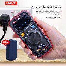 UNI T UT123 cyfrowy multimetr mini; AC woltomierz do prądu stałego; tester temperatury rezystancji (Ohm); ekran kolorowy NCV/test ciągłości/EBTN