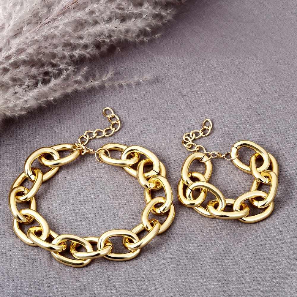 SHIXIN przesadne kubańskie grube choker łańcuszek naszyjniki dla kobiet moda biżuteria personalizuj oświadczenie Collier kobiece akcesoria