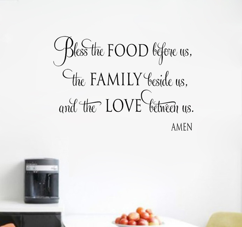 Religious Quotes About Love Amusing Free Shipping Bless Food Family Love Religious Bible Inspiration