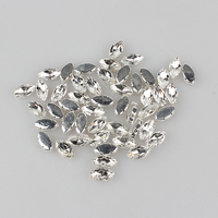 White Crystal Glass Hand Sewing Drill Beads 80 Pieces Lot Marquise Shapes For DIY Wedding Dance
