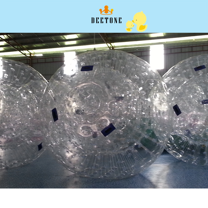 DEETONE 0.8mm PVC 2.6M Bubble Soccer Zorb Ball Loopy Ball Inflatable Human Hamster Ball Bumper Balls For Adults