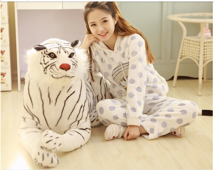 Huge Tiger Toy Artificial Animal Biggest Plush Toy Doll Furniture Ultralarge White Tiger Toy