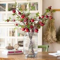 Granaatappel Fruit Bomen Prachtige Kunstbloem Desktop Zachte Woondecoratie
