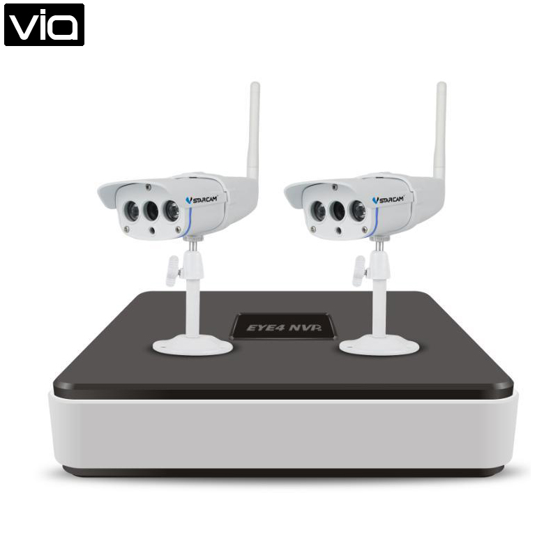 VStarcam Direct Factory 2PCS C7816WIP HD 720P Outdoor Wifi IP Camera+4CH NVR Network Video Recorder For Home Shop Security