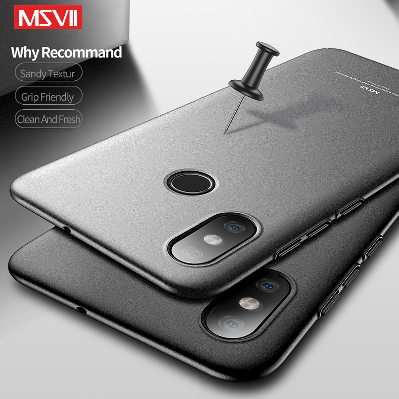 Xiaomi Mi Max 3 Case Cover Luxuru Silm Simple Scrub Hard PC Back Cover For Xiaomi MiMax3 Max3 Cases Msvii Protector Phone Coque in Fitted Cases from Cellphones Telecommunications