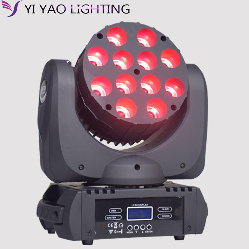 4in1 12x12 W LED tête mobile Spot lumière LED faisceau principal mobile dj équipement DMX512 chine dmx lavage têtes mobiles