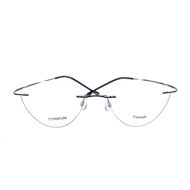 7cbb893acf Light weight 8 Colors Cat Eye Rimless Optical Glasses Memory ...